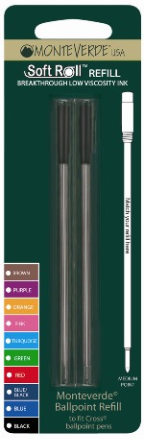 SoftRoll™ Ballpoint Ink Refill-fits Cross® by MonteVerde®