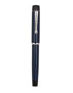 The Scholar Fountain Pen- Navy Blue Series with Chrome Nibs/Stainless Steel by Osprey Pens®