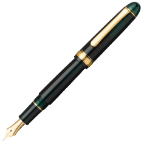 #3776 Century Laurel Green Fountain Pen [14 kt gold nibs] Series by Platinum