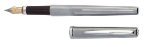 Glendalough Satin Chrome Fountain Pen by Waterford®...end of the line discount sale!