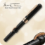 Mark Twain Crescent Filler Fountain Pen Black Chase with Rose Gold Trim Conklin®